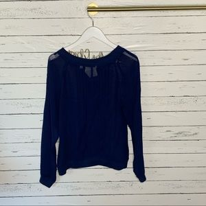 Anthropologie Tops - Anthropologie One Fine Day Ainsy Sheer Pintuck Top